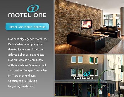 Motel One Berlin Bellevue 2 Star Garni Hotel 2 Star Hotels Hotels